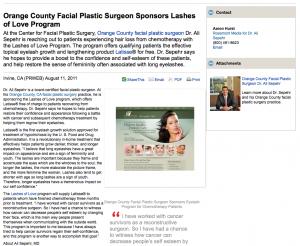 facial, plastic, surgery, latisse, orange, county, ca