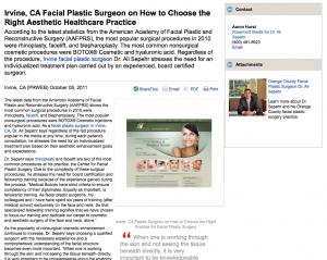 facial, plastic, surgeon, surgery, irvine, ca