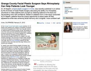 facial, plastic, surgeon, surgery, rhinoplasty, orange, county, ca