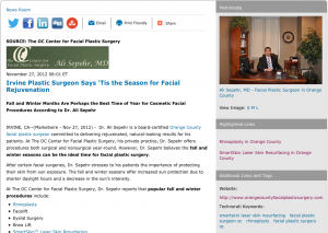 orange county facial plastic surgeon, rhinoplasty, smartskin laser skin resurfacing, orange county facial plastic surgery