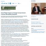 rhinoplasty, Orange County facial plastic surgeon, Dr. Ali Sepehr Answers Common Rhinoplasty Questions